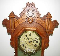 Antique Seth Thomas Eastlake Kitchen Clock 8-Day, Time/Strike