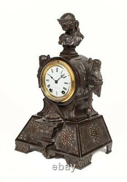 Antique Seth Thomas Egyptian Revival Figural Mantle Clock
