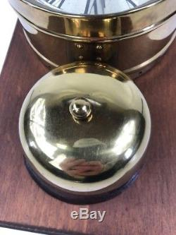 Antique Seth Thomas Exposed Bell, Brass Ships Clock