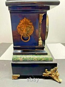 Antique Seth Thomas Faux Marble Adamantine Mantle Clock