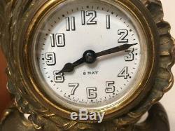 Antique Seth Thomas French Sevres Style Desk Clock