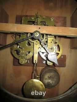 Antique Seth Thomas Gallery Wall Regulator Clock 8-Day, Time/Bell Strike
