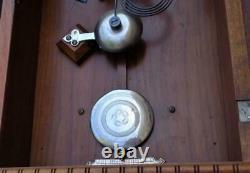 Antique Seth Thomas Garfield Time & Strike Weight Driven Shelf Mantle Clock 2