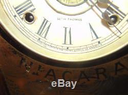 Antique Seth Thomas Giant Kitchen Gingerbread Shelf Clock NIAGARA FALLS RARE