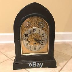 Antique Seth Thomas Gothic Chime Mantle Clock Clock with Movement 113A