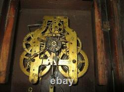 Antique Seth Thomas Hanging Kitchen Wall Clock with Alarm 8-Day, Time/Strike