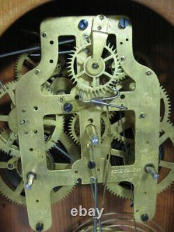 Antique Seth Thomas Kitchen Clock 8-Day For Parts or Repair Runs Well