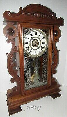Antique Seth Thomas Kitchen Clock 8-day, Time/strike, Key-wind, Shelf Or Wall