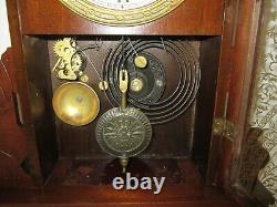 Antique Seth Thomas Kitchen Clock with Alarm 8-Day, Time/Strike, Key-wind