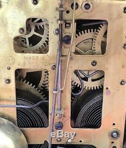 Antique Seth Thomas Lion 3 Pillar Adamantine Mantle Clock USA With2 Keys Works