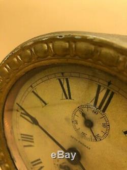 Antique Seth Thomas Long Alarm Mantel Clock