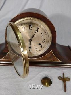 Antique Seth Thomas- Mahogany- 8 day-Mantle Clock With #117 Chime & Instructions