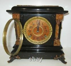 Antique Seth Thomas Mantel Clock 8-Day, Time/Gong Strike, Key-wind