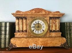 Antique Seth Thomas Mantel Clock Adamantine, Works, Chimes