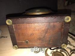Antique Seth Thomas Mantle Clock Key Wind Chime USA Pendulum Works Great Wood Nr