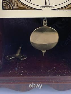 Antique Seth Thomas Mantle Clock Mechanical No. 89 Pendulum With Wind Key