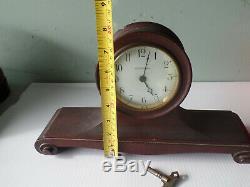 Antique Seth Thomas Mini Tambour Mantle Clock non working with key