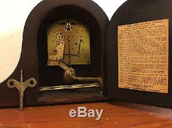 Antique Seth Thomas No. 124 Westminster Chimes 8 Day Mantle Clock Works Great