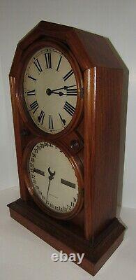 Antique Seth Thomas No. 5 Double Dial Calendar Parlor Clock 8-day, Time/strike
