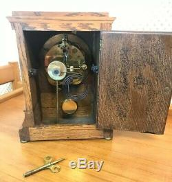 Antique Seth Thomas Oak Mantel Clock