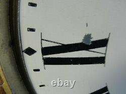 Antique Seth Thomas Oak Octagonal School Regulator Wall Clock Hour Chime Works