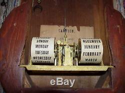 Antique Seth Thomas Office Calendar # 6 Circa 1876