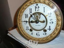 Antique-Seth Thomas-Open Escapement-Clock Movement-Ca. 1890-To Restore-#E42