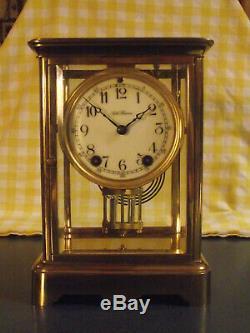 Antique Seth Thomas Orchid model crystal regulator clock