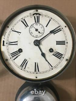 Antique Seth Thomas Outside Bell Marine Lever Locomotive or Ships Clock Parts