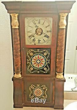 Antique Seth Thomas PLYMOUTH HOLLOW Weight Driven TRIPLE DECK Column Shelf Clock