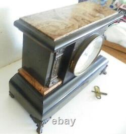 Antique Seth Thomas = Pendulum Chimes Clock = Adamantine Mantle Clock 1880