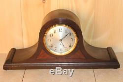 Antique Seth Thomas Quarter Hour Chiming Mantle Clock In Running Condition
