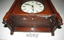 Antique Seth Thomas Queen Anne Wall Regulator Clock 8-Day, Time/Strike