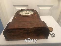 Antique Seth Thomas Regulator Mantel Clock (Unique Case with Key Lock Side)