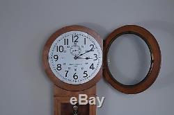 Antique Seth Thomas Regulator Two Canadian Railway Station Clock