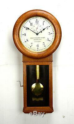 Antique Seth Thomas Santa Fe Railway MONTGOMERY DIAL Regulator Wall Clock