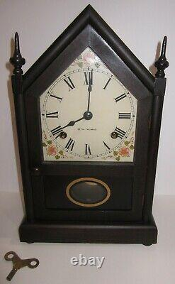 Antique Seth Thomas Sharon No. 108 Steeple Clock 8-Day, Time and Strike