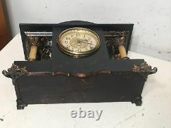 Antique Seth Thomas Shasta Model Adamantine Clock 4 Column Curved Sides