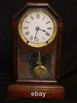 Antique Seth Thomas Shelf Mantel Clock Home Works Restored Steeple