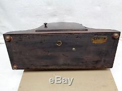 Antique Seth Thomas Shelf Mantle Clock Chime 13 1/2 W X 9H X 5D
