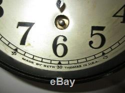 Antique Seth Thomas Ship's Time Clock Maritime