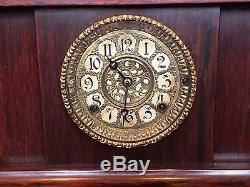 Antique Seth Thomas Sonora 4 Bell Clock Quarter Hour Chime 8 Day Westminster