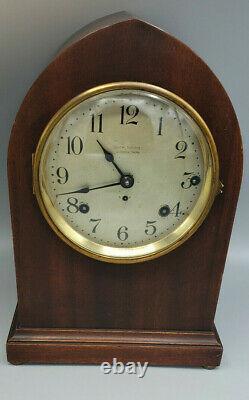 Antique Seth Thomas Sonora Chime Clock Pendulum And Key Set-Working
