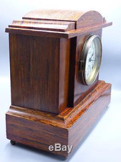 Antique Seth Thomas Sonora Chimes Mantel Adamantine Clock with 4 Bells Working