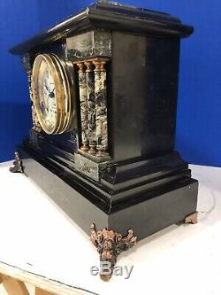 Antique Seth Thomas Sonora Clock With Five Bells And Adamantine Case-restored
