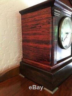 Antique Seth Thomas Sonora No. 5 Chiming Shelf or Mantel Clock Adamantine 90D