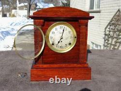 Antique Seth Thomas Sonora Westminster Chime Shelf Mantle Clock Runs Restore