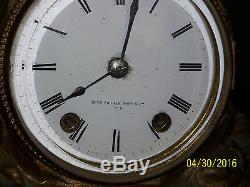 Antique Seth Thomas & Sons Statue Clock c1876