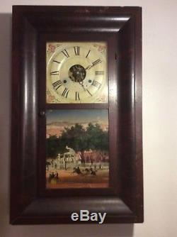 Antique Seth Thomas Thirty Hour Brass Movement Weight Driven Clock