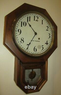 Antique Seth Thomas Time Piece Wall Regulator Clock 8-Day, Key-wind